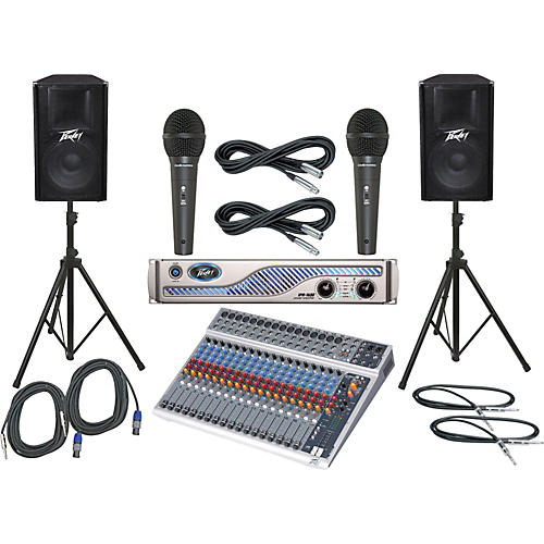 Peavey PV20 USB / IPR 1600 / PV115 PA Package
