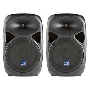 Gem Sound PXB120USB 12 inch Powered Speakers Pair with USB/SD Media Player
