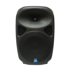 Gem Sound PXB150USB 15 inch Powered Speaker with USB/SD Media Player/Wheels
