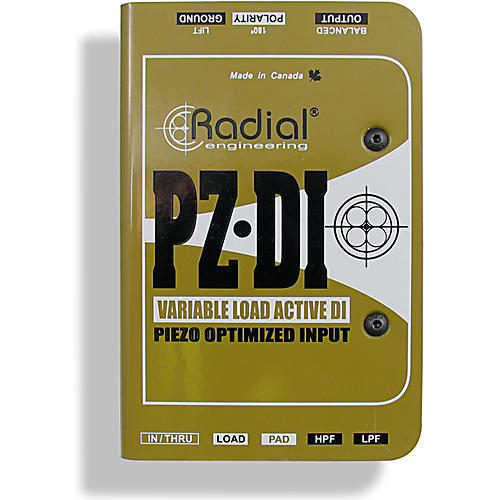 Radial Engineering PZ-DI Acoustic/Orchestral Instrument Active Direct Box-thumbnail