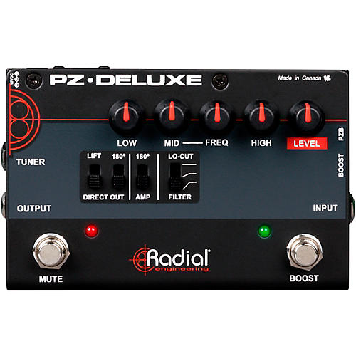 Radial Engineering PZ-Deluxe Acoustic Preamp / Direct Box Guitar Pedal