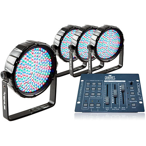 venue package of 4 thinpar64 led par lights with obey 3 controller guitar center. Black Bedroom Furniture Sets. Home Design Ideas