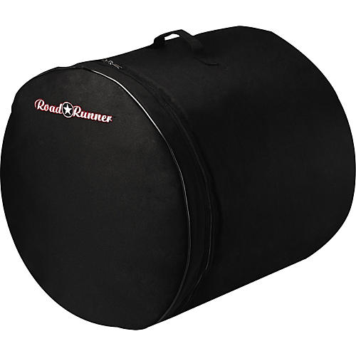 Road Runner Padded Bass Drum Bag Black 20 x 18 in.