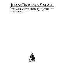 Lauren Keiser Music Publishing Palabras de Don Quijote, Op. 66 (Baritone) LKM Music Series Composed by Juan Orrego-Salas