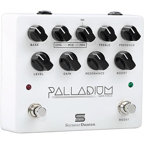 Seymour Duncan Palladium Gain Stage Distortion Guitar Effects  Pedal (White)
