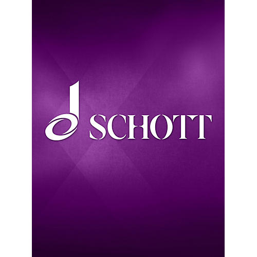 Schott Paraphrase (flute (bassflute) and piano (electric organ)) Schott Series Composed by Jürg Wyttenbach