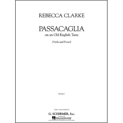 G. Schirmer Passacaglia Va/Pno Of An Old English Tune Viola And Piano By Clarke