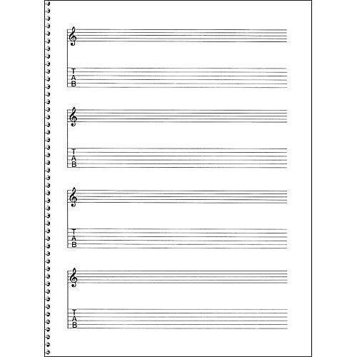 Music sales passantino guitar manuscript paper spiral pad for Music manuscript template