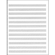 Passantino Manuscript Paper #65 12 Stave, 32 Page, Spiral, 9X12