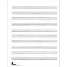 Music Sales Passantino Music Paper Filler No.2 96 Pages, 8.5X11, 3 Ring