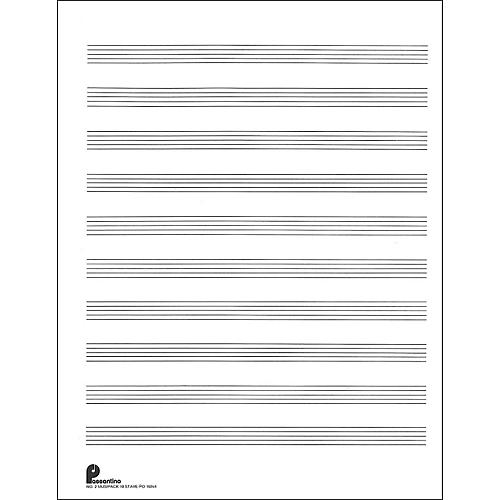 Music Sales Passantino Music Paper Filler No.2 96 Pages, 8.5X11, 3 Ring-thumbnail