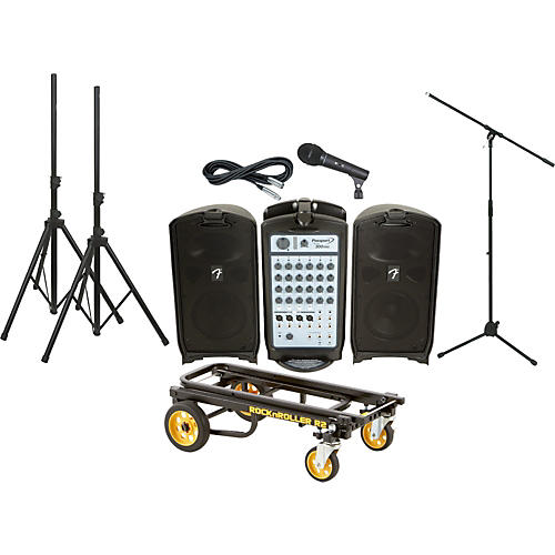Fender Passport 300 Pro PA Package with Rock N Roller Cart-thumbnail