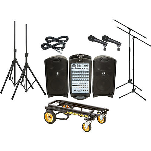 Fender Passport 500 Pro 2 Mic PA Package with Rock N Roller Cart-thumbnail