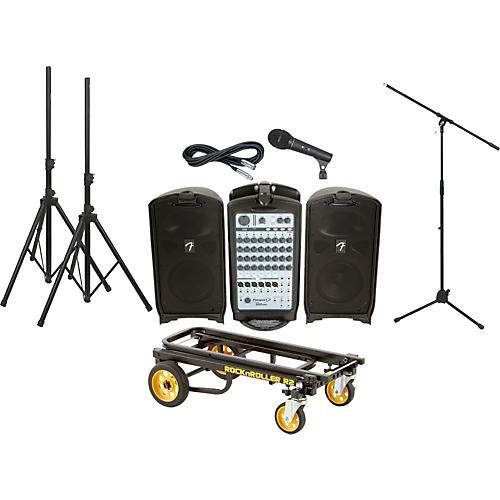 Fender Passport 500 Pro PA Package with Rock N Roller Cart-thumbnail