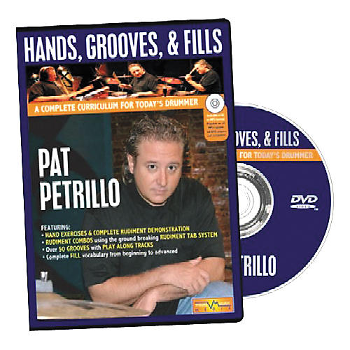 Visual Music Media Pat Petrillo Hands, Grooves & Fills (DVD and Book)-thumbnail
