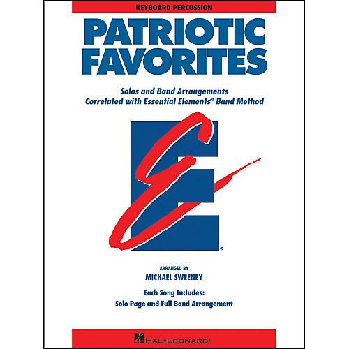 Hal Leonard Patriotic Favorites Keyboard Percussion