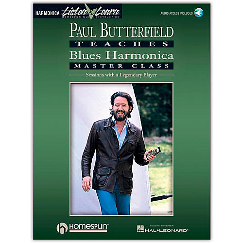 Hal Leonard Paul Butterfield Teaches Blues Harmonica Master Class (Book/Online Audio)-thumbnail