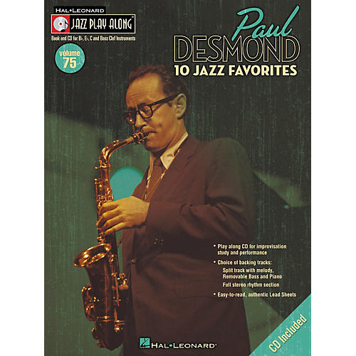 Hal Leonard Paul Desmond Jazz Play-Along Series (Book/CD)-thumbnail