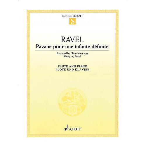 Schott Pavane pour une infante défunte (Pavane for a Dead Princess) for Flute & Piano Woodwind Solo Series