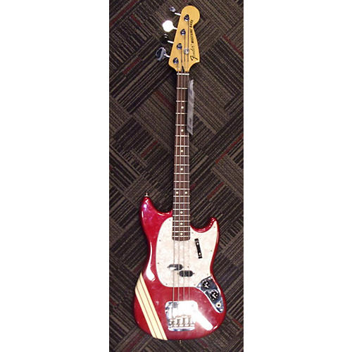 Fender Pawn Shop Mustang Bass RED WITH RACING STRIPE Electric Bass Guitar