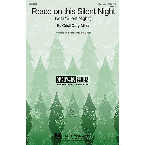 Hal Leonard Peace on This Silent Night (with Silent Night) 2-Part Composed by Cristi Cary Miller