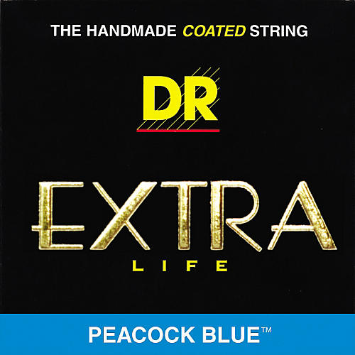 DR Strings Peacock Blues Medium 4-String Bass Strings