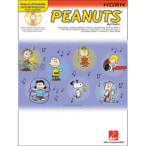 Hal Leonard Peanuts for French Horn - Instrumental Play-Along Book/CD