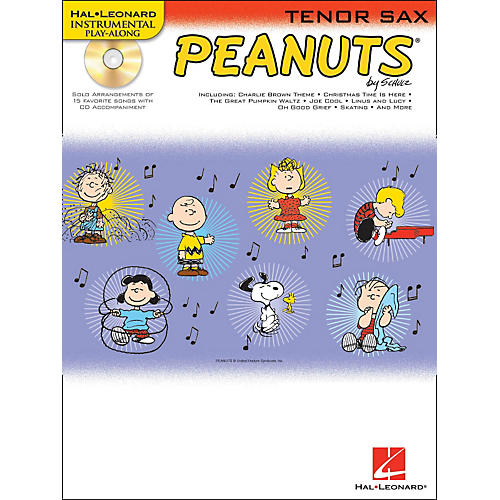 Hal Leonard Peanuts for Tenor Sax - Instrumental Play-Along Book/CD-thumbnail