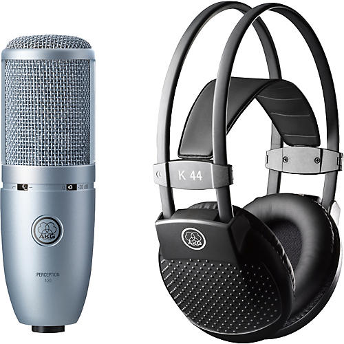 AKG Perception 120 Condenser Mic with K 44 Headphones-thumbnail