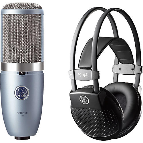AKG Perception 420 Condenser Mic with K 44 Headphones