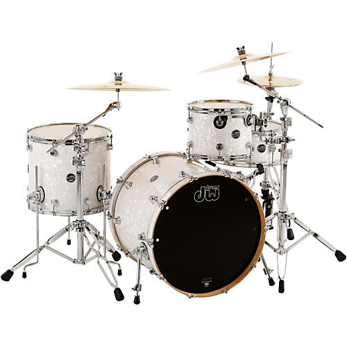 DW Performance Series 4-Piece Shell Pack Ebony Stain Lacquer with Chrome Hardware-thumbnail