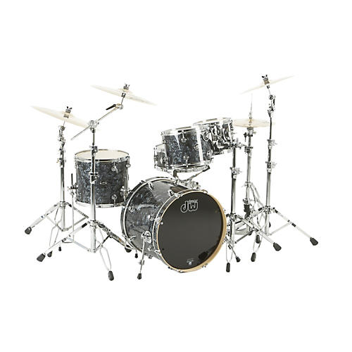 DW Performance Series 5-Piece Shell Pack Black Diamond with Chrome Hardware
