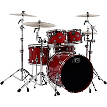 DW Performance Series 5-Piece Shell Pack Level 1 Candy Apple Lacquer with Chrome Hardware