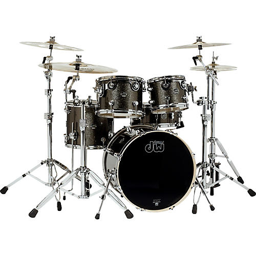 DW Performance Series 5-Piece Shell Pack Pewter Sparkle with Chrome Hardware