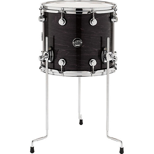 dw performance series floor tom 14 x 12 in ebony stain