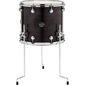 Dw performance series floor tom 14 x 12 in ebony stain for 16 floor tom