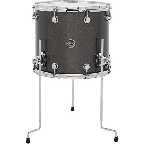 Dw performance series floor tom pewter sparkle 16 x 14 in for 16 x 14 floor tom