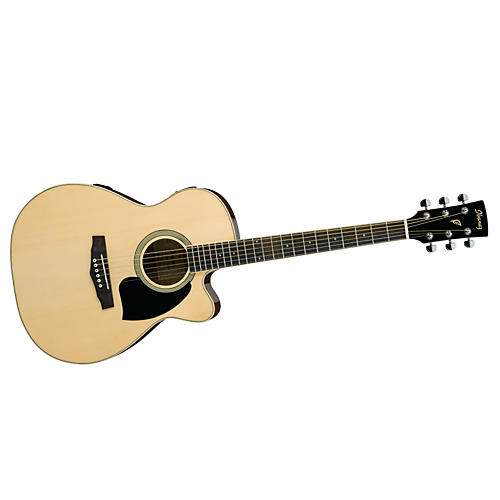 Ibanez Performance Series PC15 Cutaway Grand Concert Acoustic Electric Guitar with Case-thumbnail