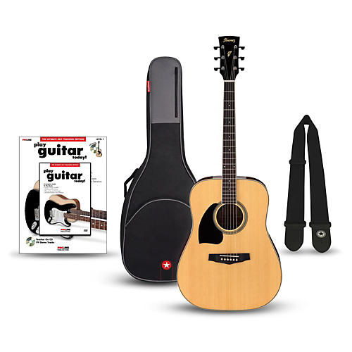 Ibanez Performance Series PF15 Left Handed Dreadnought Acoustic Guitar Bundle-thumbnail
