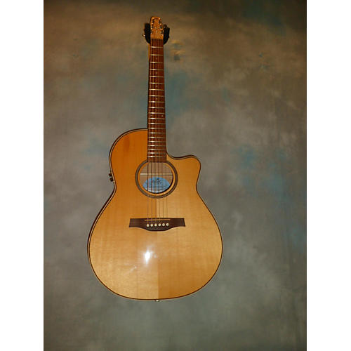 Seagull Performer CW Folk Flame Maple Acoustic Electric Guitar