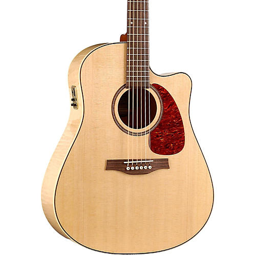 Seagull Performer Cutaway Flame Maple High Gloss QI Acoustic-Electric Guitar-thumbnail