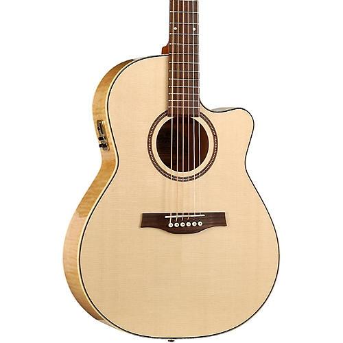 Seagull Performer Cutaway Folk QI Acoustic-Electric Guitar-thumbnail
