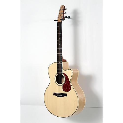 Seagull Performer Cutaway Mini Jumbo Flame Maple QI Acoustic-Electric Guitar-thumbnail