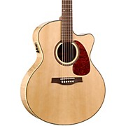 Seagull Performer Cutaway Mini Jumbo Flame Maple QI Acoustic-Electric Guitar