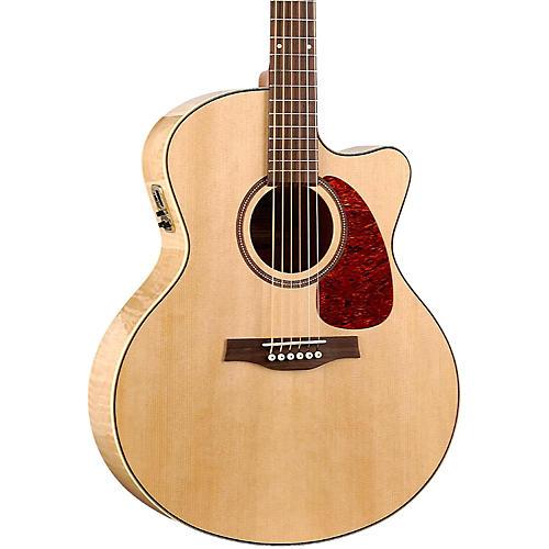 Seagull Performer Cutaway Mini Jumbo Flame Maple QI Acoustic-Electric Guitar