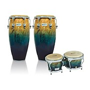 Performer Series 2-Piece Conga and Bongo Set with Chrome Hardware
