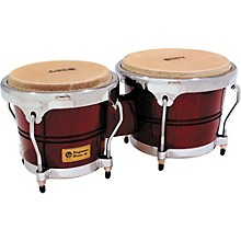 LP Performer Series Bongos with Chrome Hardware Level 1 Dark Wood