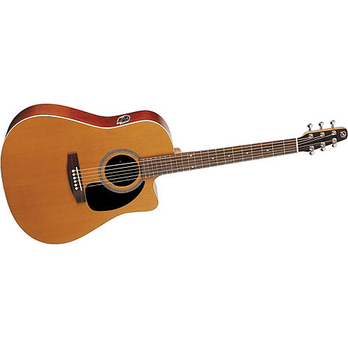 Seagull Performer Series Cutaway Dreadnought QI Acoustic-Electric Guitar with Case