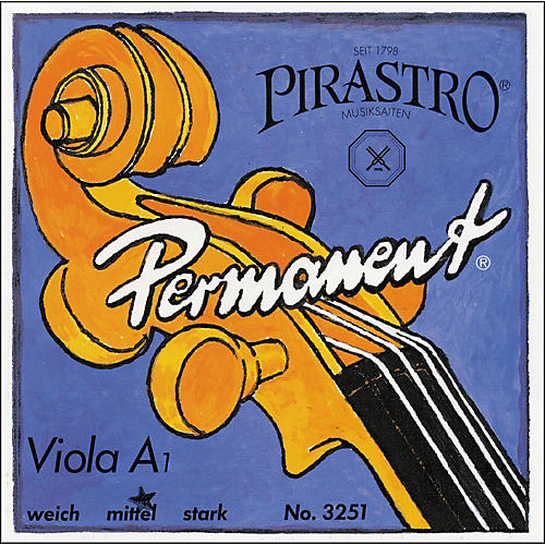 Pirastro Permanent Series Viola String Set 16.5 Set Medium