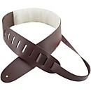 "Perri's 2.5"" Leather Guitar Strap with Sheepskin Pad (DL325-2213)"